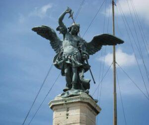 Statue of Archangel Michael on Castel Sant'Angelo