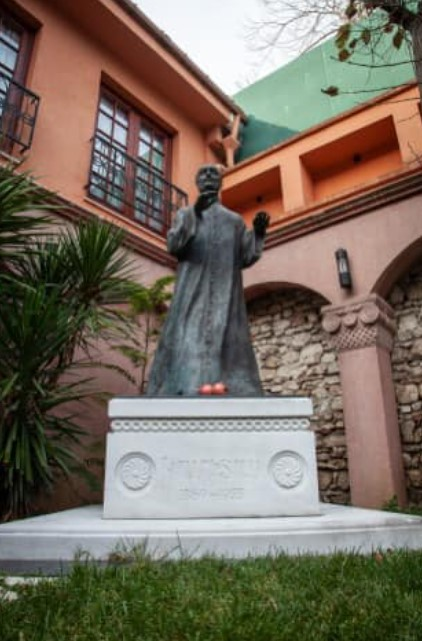Statue of Komitas, Armenian Patriarchate of Istanbul in Turkey