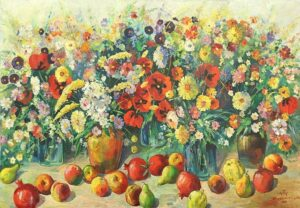 Still Life with Flowers and Fruits, 1952.