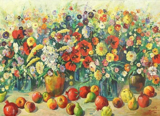 Still Life with Flowers and Fruits, 1952