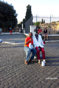 Street Entertainers near Castel Sant Angelo.