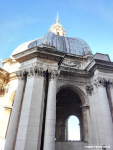 The Dome of St. Peter's Basilica is the tallest dome in the world - 136.57 m.
