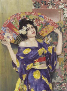 The Girl with the Fan,1900