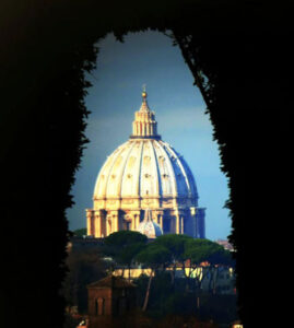 View from the Keyhole of the Knights of Malta