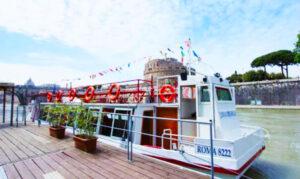 Tiber River Hop On Hop Off Cruise Boat.