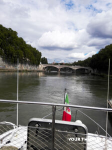 Tiber River Hop On Hop Off Cruise, Vatican is on the Horizon.