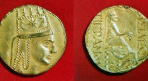 Silver coin of the Armenian King of Kings Tigranes the Great. (140 – 55 BC).