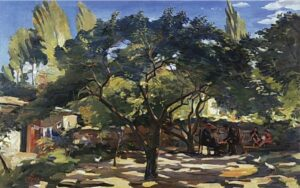 Under the Apricot Trees, 1954