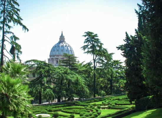 The Gardens of Vatican City or Vatican Gardens (Giardini Vaticani). 23 hectares.
