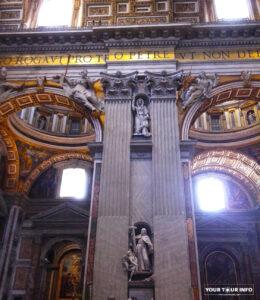 Saint Peters Basilica, inside.