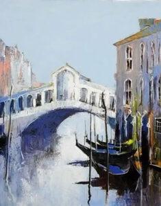 Venise vue ur le Rialto, Celestin Messaggio