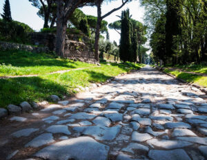 Appian Way or Via Appia, the first ancient Roman road from Rome to Campania and southern Italy. 312–264 BC.