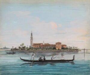 View of San Lazzaro degli Armeni, Venice, Giuseppe Bernardino