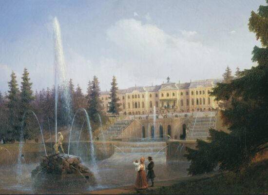 View of the Big Cascade in Petergof and the Great Palace, 1837