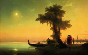 View on Lagoon of Venice, 1841.