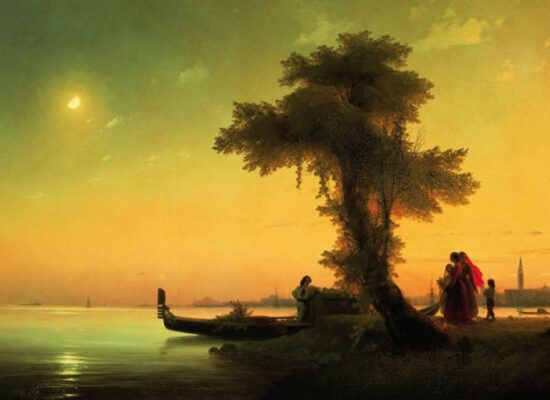 View on Lagoon of Venice, 1841