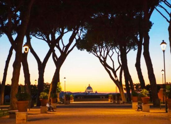 View to Vatican from Orange Garden (Giardino degli Aranci)