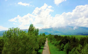 Way to Mount Aragats.