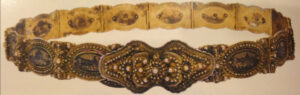 Women's Belt with the image of the famous monasteries of historical Armenia, 19th century, Van