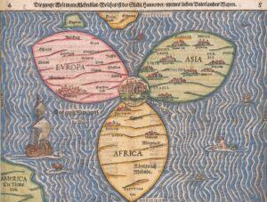 World Map by Heinrich Buenting, 1581