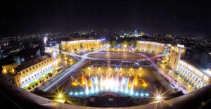 Yerevan at night.