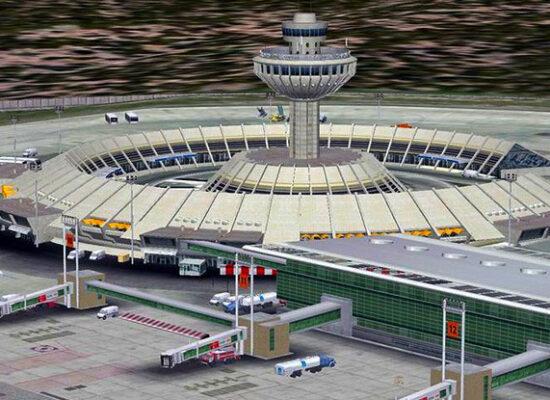 Zvartnots International Airport, Yerevan, Armenia.
