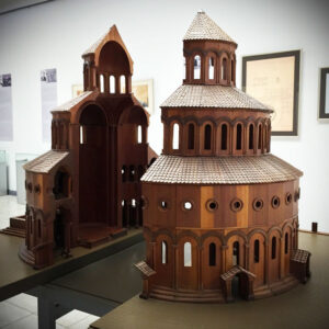 Zvartnots Temple (interior, model). History Museums in Vagharshapat.