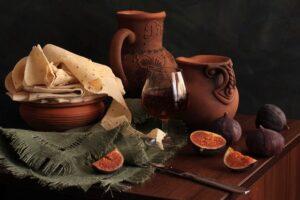 Armenian Lavash & Wine.