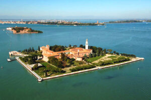 Saint Lazarus Island, Saint Lazarus of the Armenians, San Lazzaro degli Armeni, Սուրբ Ղազար կղզի, 2 km (1.2 mi)near to Venice, Italy.