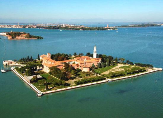 Saint Lazarus Island, Saint Lazarus of the Armenians, San Lazzaro degli Armeni, Սուրբ Ղազար կղզի, 2 km (1.2 mi)near to Venice, Italy.