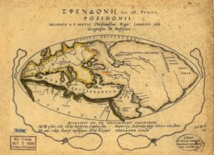 Map of the world according to Posidonius 1st c. BCE,, ArmeniaLibrary of Congress