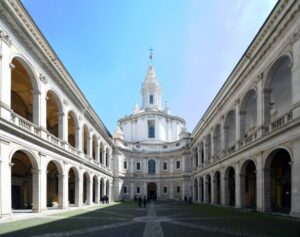 Church of Saint Ivo at La Sapienza, Chiesa di Sant'Ivo alla Sapienza,1642-1660, by Borromini. 40, Corso del Rinascimento.