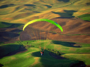 Yell Extreme Park-paragliding
